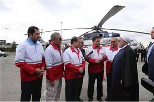 بازدید سرزده رئیس جمهور از ایستگاه سلامت اورژانس در بزرگراه تهران-کرج