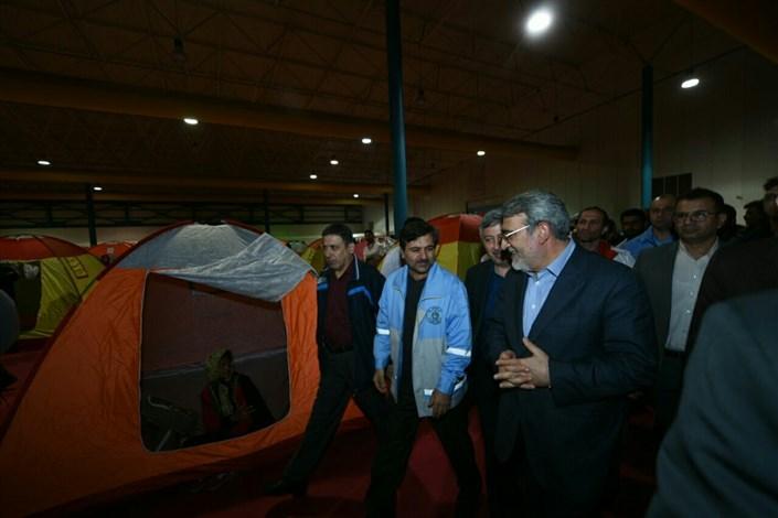 بازدید وزیر کشور از مناطق سیل زده گلستان