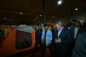 بازدید وزیر کشور از اسکان موقت سیل زدگان آق قلا