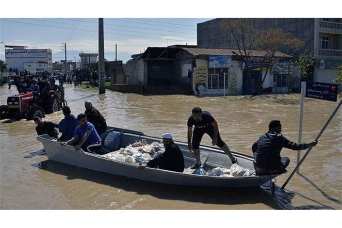 ارسال لودر و بیل مکانیکی به مناطق سیل زده استان گلستان
