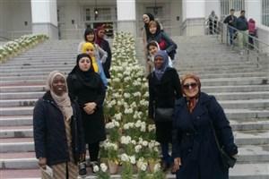 بازدید دانشجویان بینالمللی دانشگاه الزهرا از کاخ سعدآباد