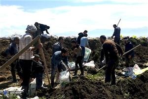 اردوی جهادی دانشگاه آزاد اسلامی واحد گرگان در مناطق سیلزده بندرترکمن