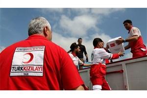 کمکهای هلال احمر ترکیه در روستای تازه آباد آق قلا توزیع شد