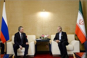 تاکید روسای مجلس ایران و روسیه بر عملیاتی شدن توافقات دوجانبه