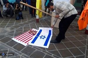 تجمع اعتراضی دانشجویان انقلابی دانشگاه صنعتی شریف در واکنش به اقدام خصمانه ایالات متحده آمریکا