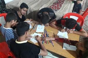 برگزاری جنگ های سرگرمی برای کودکان و نوجوانان سیل زده استان خوزستان