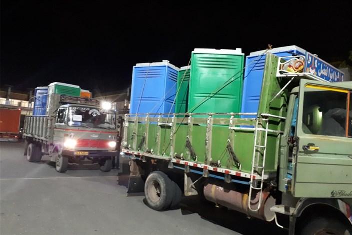 اعزام تجهیزات امدادی به مناطق سیل زده