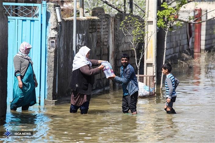 کمک رسانی به روستاهای مجاور آق قلا