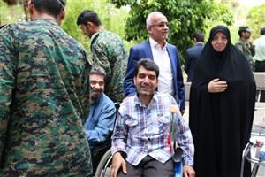 تجلیل از جانبازان ضایعه نخاعی مرکز توانبخشی ثامنالائمه(ع) یزد