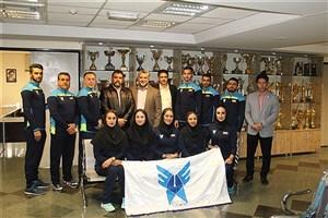 اعزام تیم کاراته دانشگاه آزاد اسلامی به مسابقات قهرمانی دانشجویان آسیا