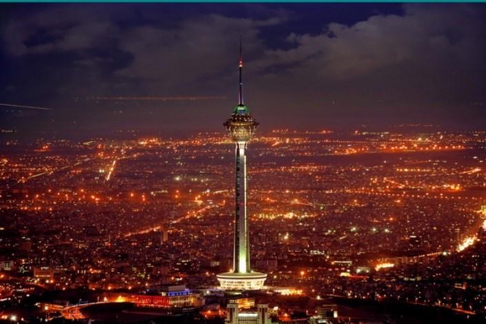 برج میلاد قرمز می شود
