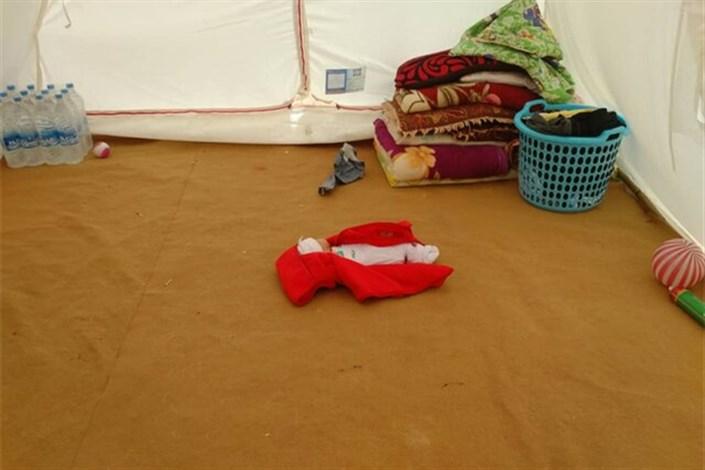 تولد سارا در محاصره سیل