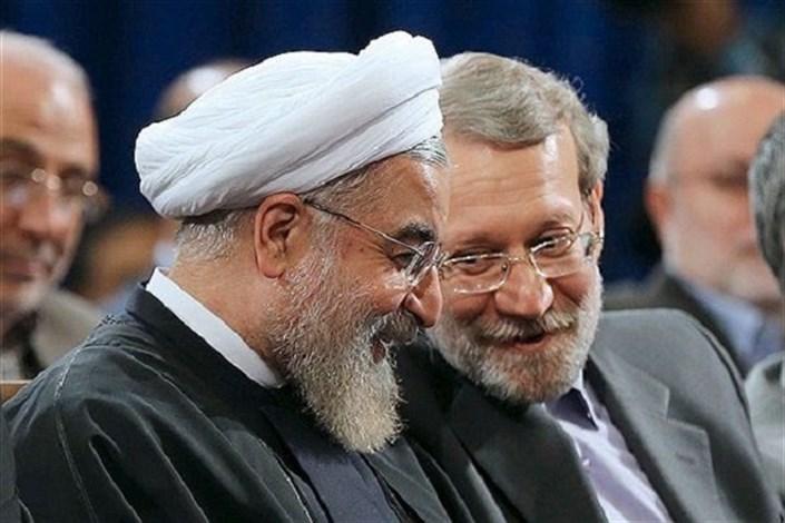 علی لاریجانی و حسن روحانی