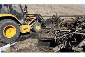 کارشناس محیط زیست در حین انجام مأموریت  مصدوم شد/ تخریب کورههای تولید ذغال در حسن آباد فشافویه