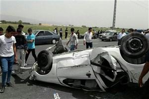 پژو  ۲۰۶ در جاده ورامین واژگون شد/کشته شدن نوجوان ۱۶ ساله و مصدومیت دو نفر