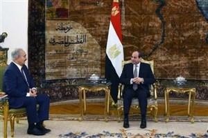 رئیس جمهور مصر با خلیفه حفتر دیدار کرد