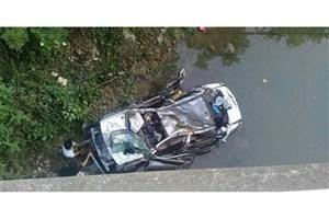 سقوط پراید به رودخانه /4 نفر جان باختند