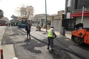 انجام بیش از 22 هزار متر مربع آسفالت در خیابان های مرکز تهران