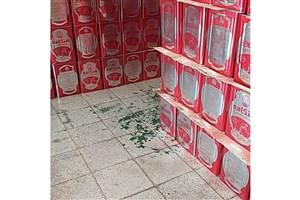 کشف ۸۰۰ حلب روغن درانباری  در تهران
