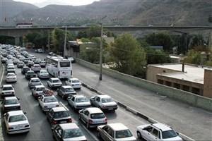 ترافیک سنگین در ورودی آزادراه کرج- تهران