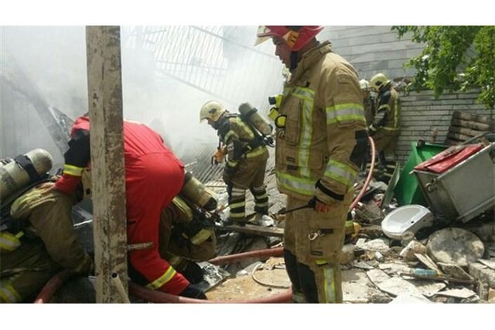 انفجار در مغازه تعویض روغن