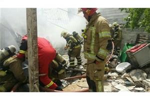 انفجار و آتشسوزی  مغازه تعمیرات خودرو و تعویض روغن/ مرگ یک نفر تاکنون