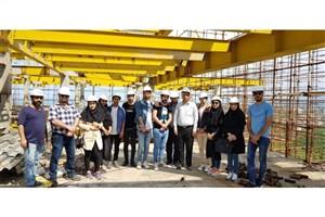 بازدید علمی دانشجویان مهندسی عمران واحد رامسر از پروژه در حال ساخت آفرینش