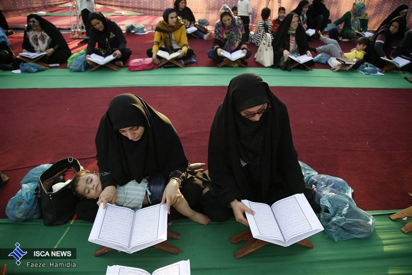 مراسم  افطار و  جزءخوانی قرآن کریم در میدان امام حسین