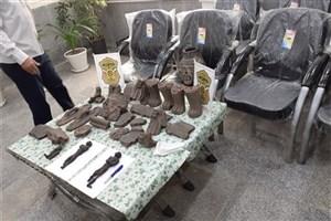 کشف مجسمه مومیایی حین معامله غیرمجاز در دزفول+عکس