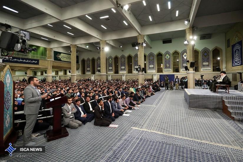 دیدار جمعی از دانشجویان و نمایندگان تشکلهای دانشجویی با رهبر معظم انقلاب