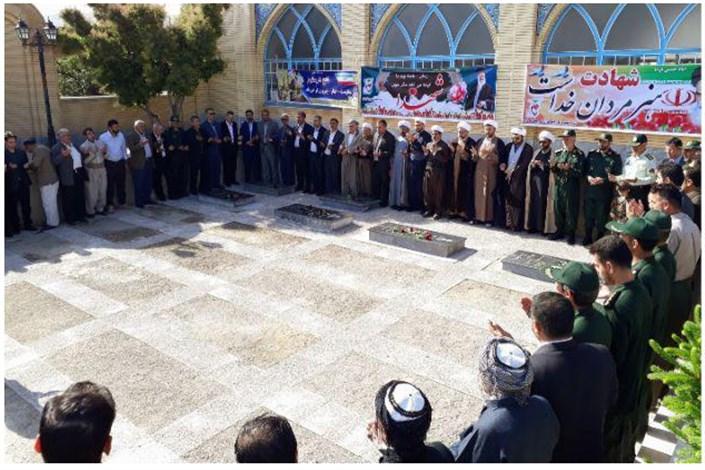 شرکت دانشگاهیان دانشگاه آزاد اسلامی بوکان در مراسم غبارروبی مزار شهدا