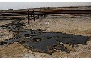 نشت نفت در شهران /نشت نفت باقر شهر کنترل شده است