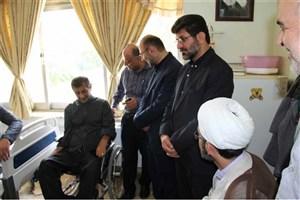 دیدار دانشگاهیان واحد ساری با جانبازان قطع نخاعی آسایشگاه امام علی (ع) شهرستان