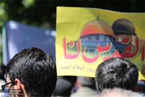 توریستهای خارجی هم در حمایت از مردم مظلوم فلسطین به میدان آمدند