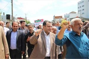 حضور پرشور دانشگاهیان دانشگاه آزاد اسلامی  واحد نور در راهپیمایی روز قدس
