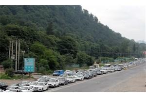 ترافیک سنگین در جاده هراز و آزادراه کرج- تهران