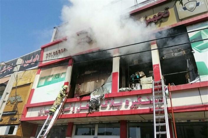 آتش سوزی در انبار ابزار و یراق خیابان هنگام  تهران
