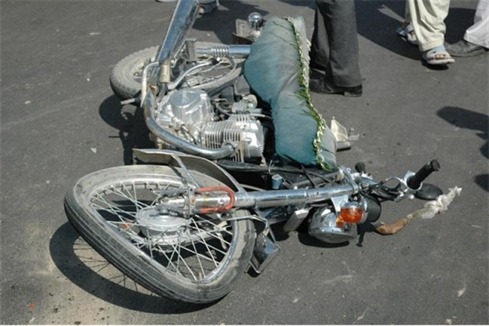 تصادف پراید با موتورسیکلت