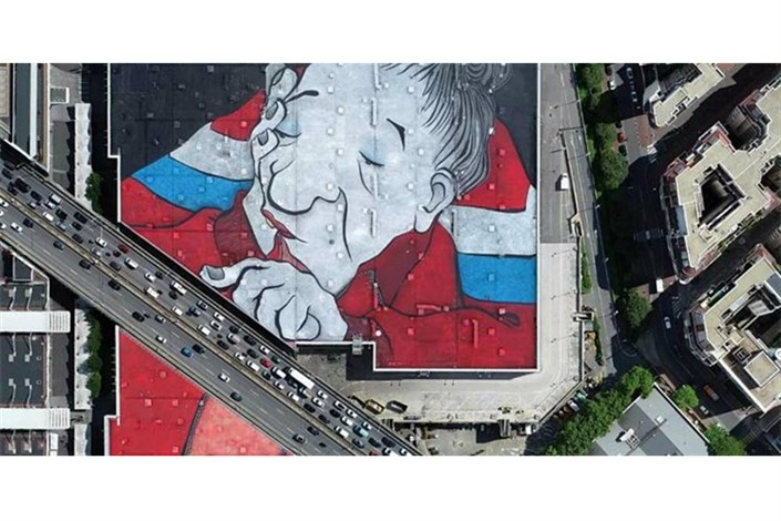 بزرگترین نقاشی دیواری اروپا در پاریس