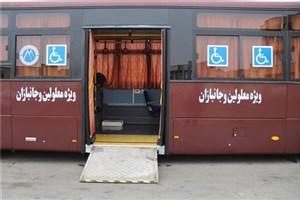تبلیغ حقوق معلولان بر روی بدنه اتوبوسهای BRT