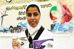 راهیابی دانشجوی دانشگاه آ زاد اسلامی واحد زاهد شهر به تیم ملی تکواندو