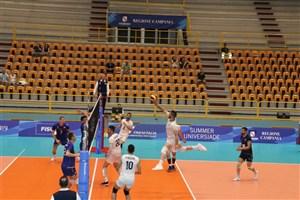 دومین شکست والیبال دانشجویان ایران در یونیورسیاد
