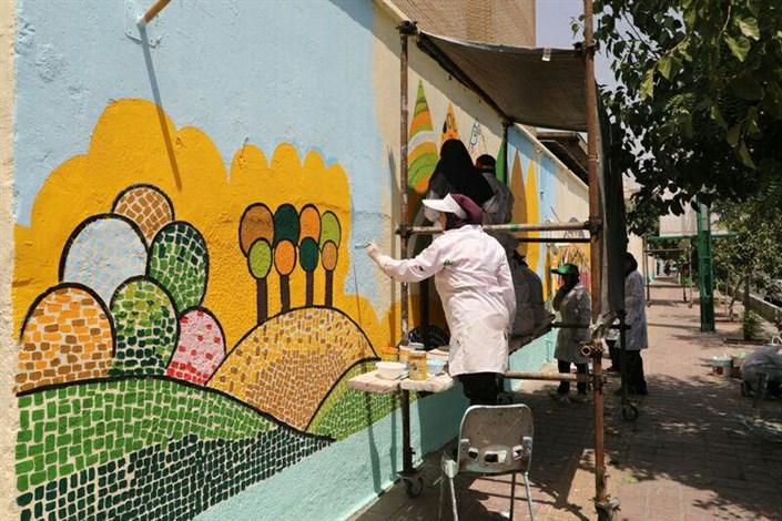 اجرای طرح های رنگ در شهر