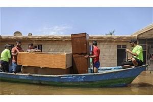 بارگیری ۱۰ هزار بسته لوازم خانگی برای سیل زدگان