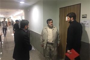بازدید طهماسب کاظمی  از روند برگزاری مصاحبه دکتری دانشگاه آزاد در واحد علوم  و تحقیقات
