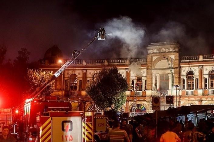 آتش سوزی میدان حسن آباد