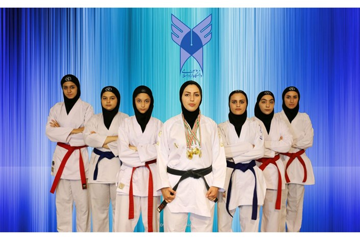 شش مدال طلا سهم تیم شش نفره کاراته دانشگاه آزاد اسلامی اردبیل