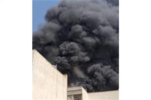 آتش سوزی  مخزن گازوئیل در غرب تهران