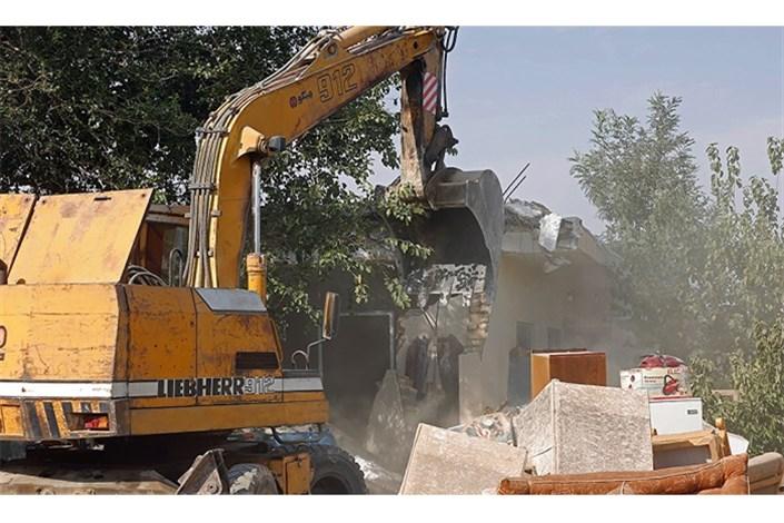 تخریب ساخت و ساز های غیر مجاز