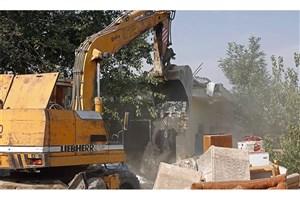 10 سازه غیرمجاز در روستاهای گرگان  تخریب  شد